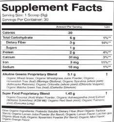 Organifi Green Juice Supplement Fcats